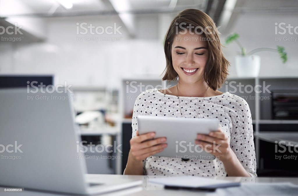 Make technology work for you stock photo