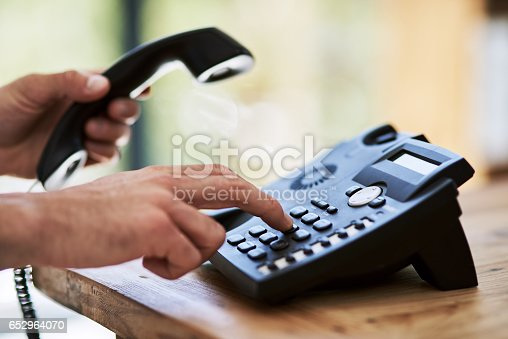 istock Make that call and make it happen 652964070