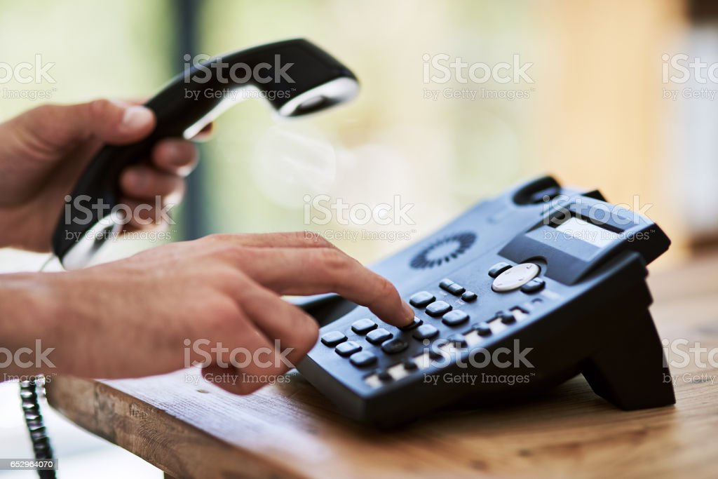 Make that call and make it happen stock photo