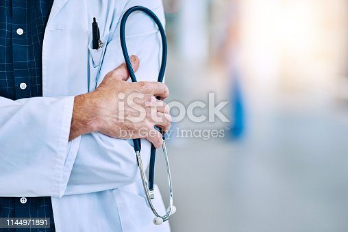 Cropped shot of an unrecognizable doctor holding a stethoscope