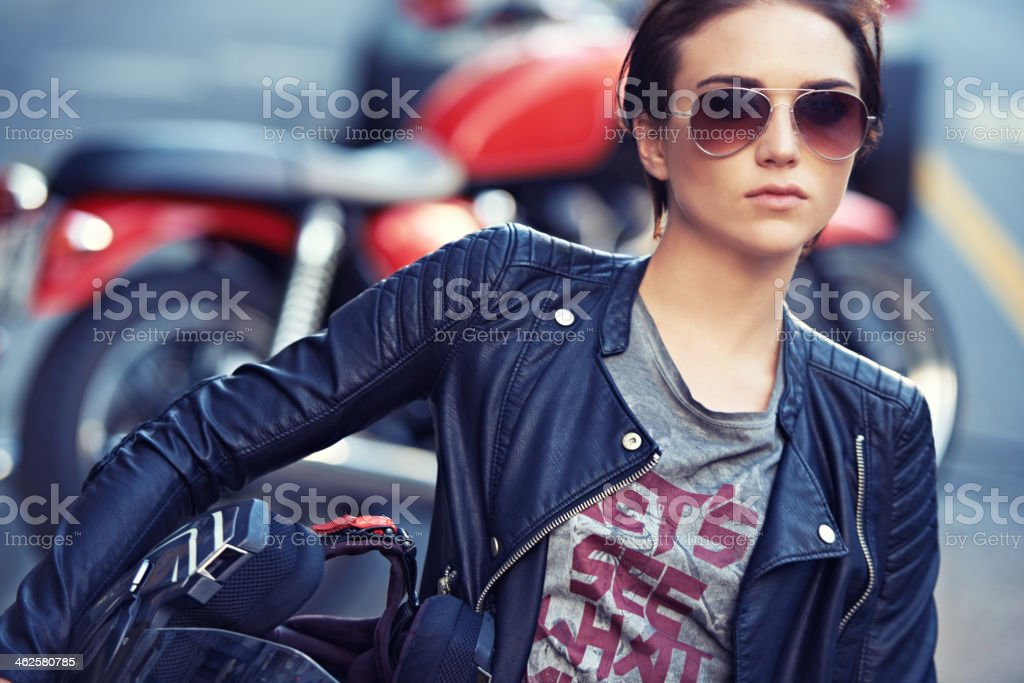 I make the bike look good! stock photo