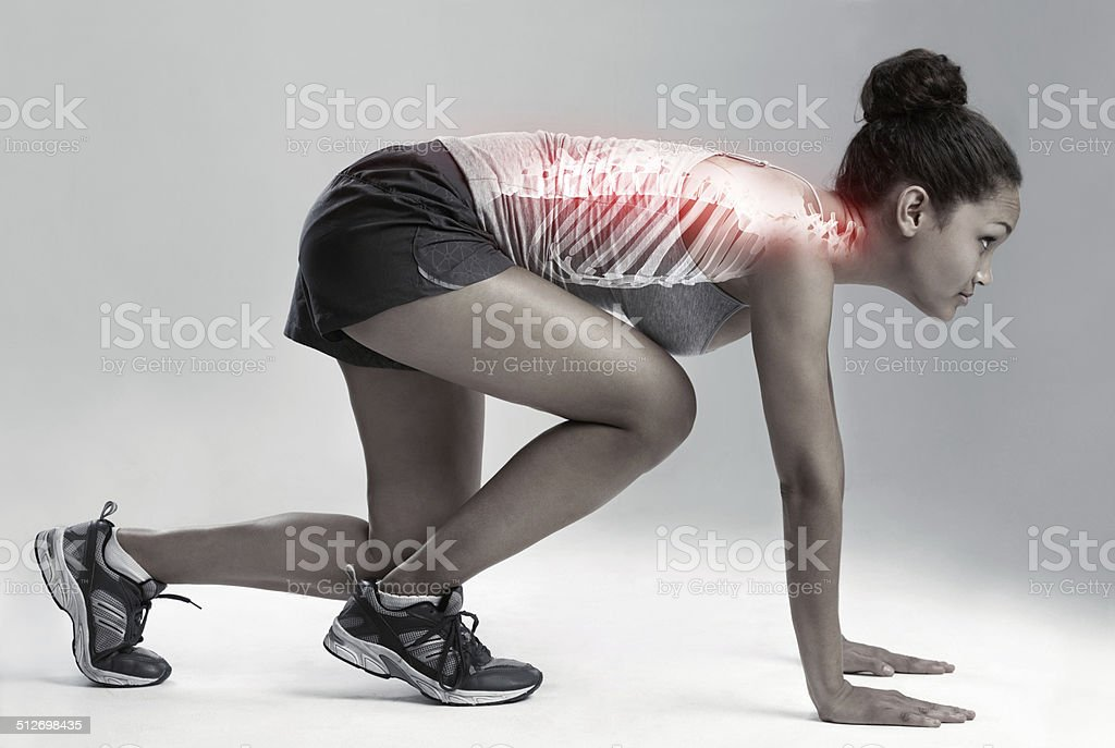 Make the pain drive you stock photo