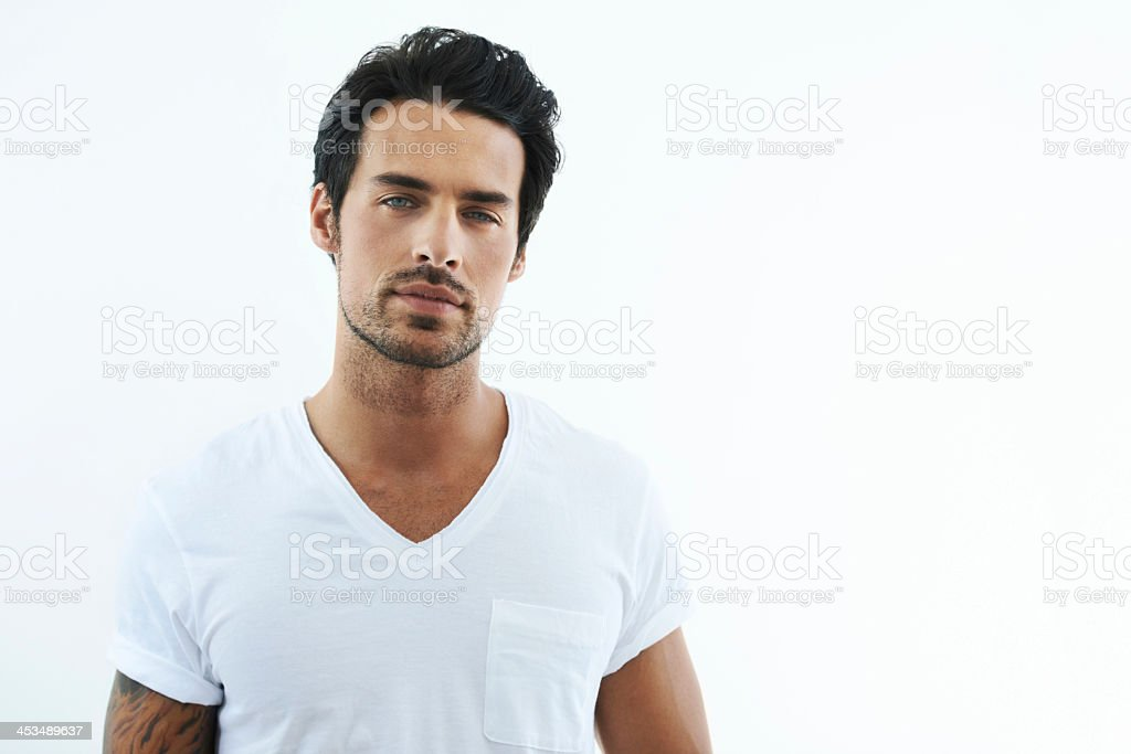I make this shirt look good! stock photo