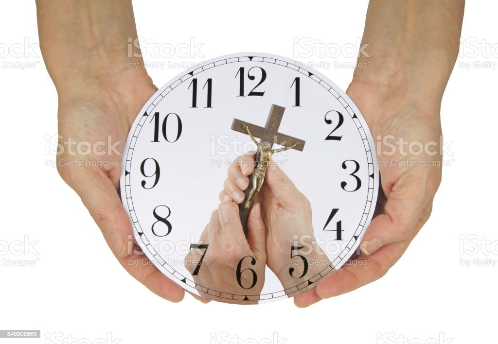 Make Time for Him stock photo