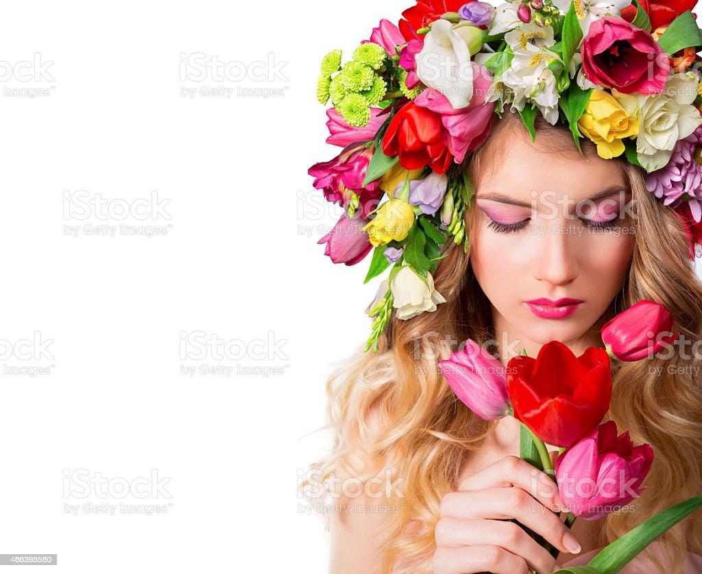 make up and femininity - fragrance of spring stock photo