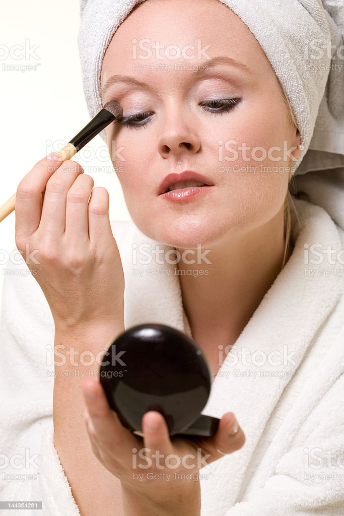 Make up application royalty-free stock photo