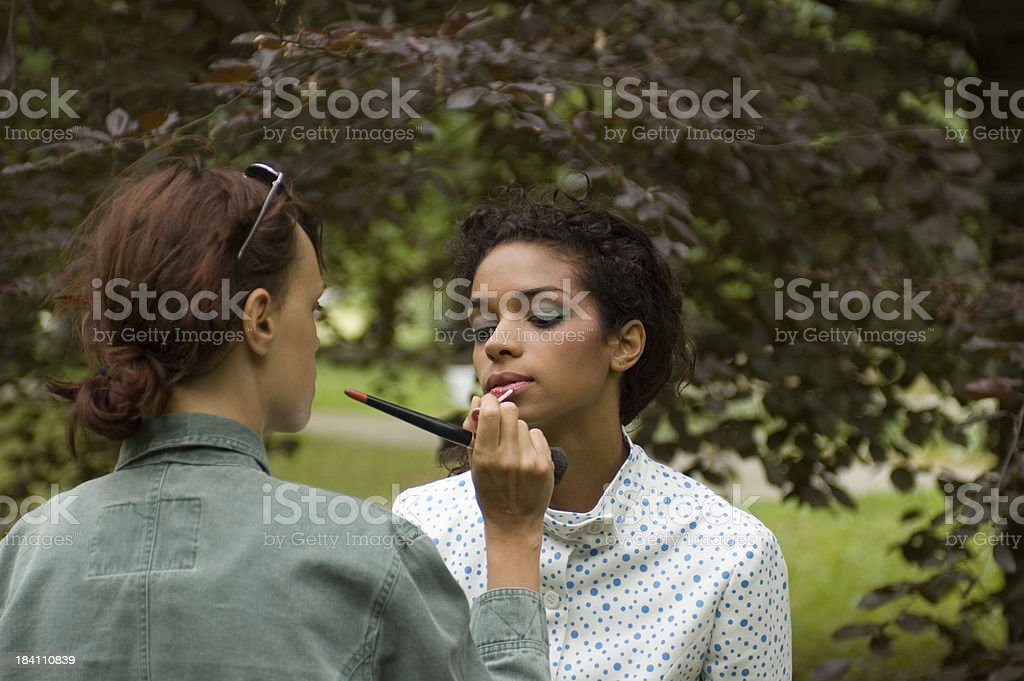 Make-up-Künstler im set – Foto