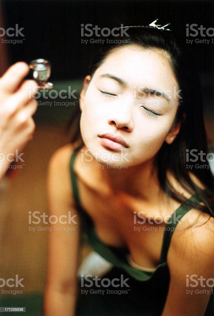 Make Up Artist & Model stock photo