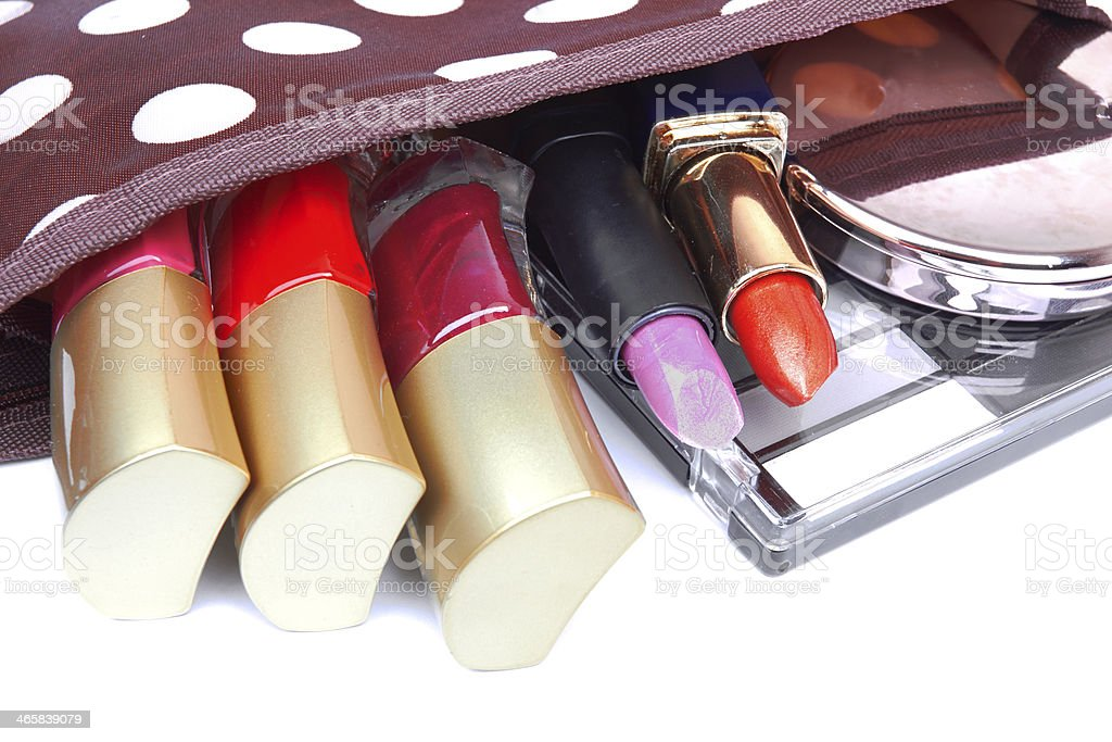 Make up bag stock photo