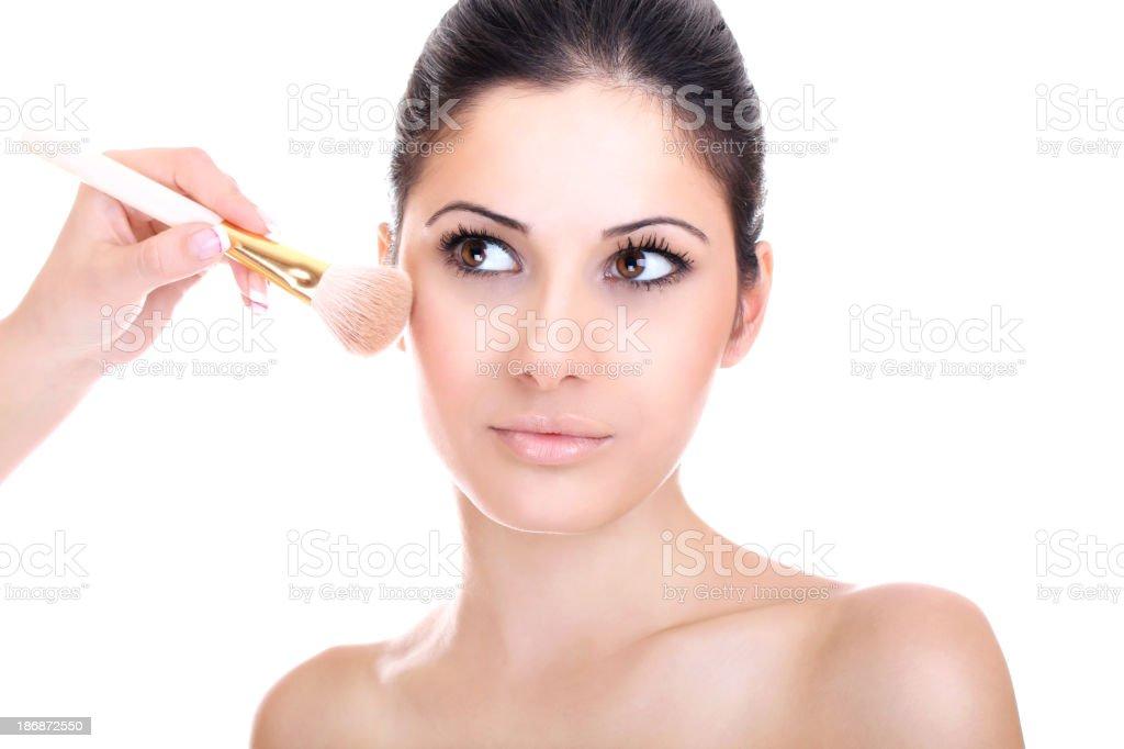 Make up beauty isolated on white royalty-free stock photo