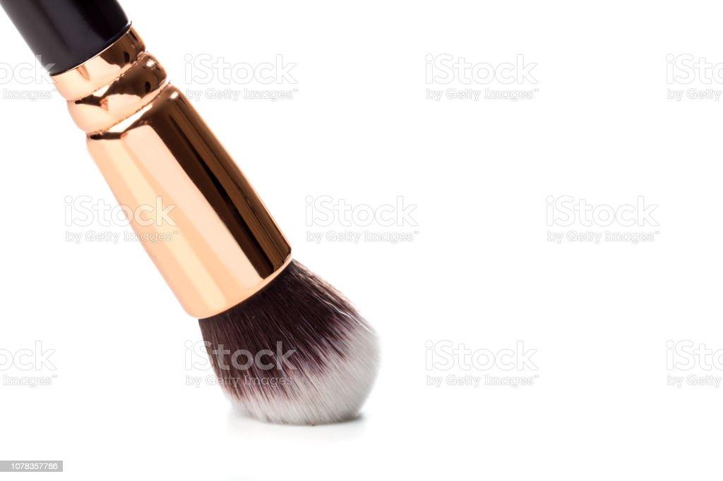 make up brush foundation blusher isolated on white background стоковое фото