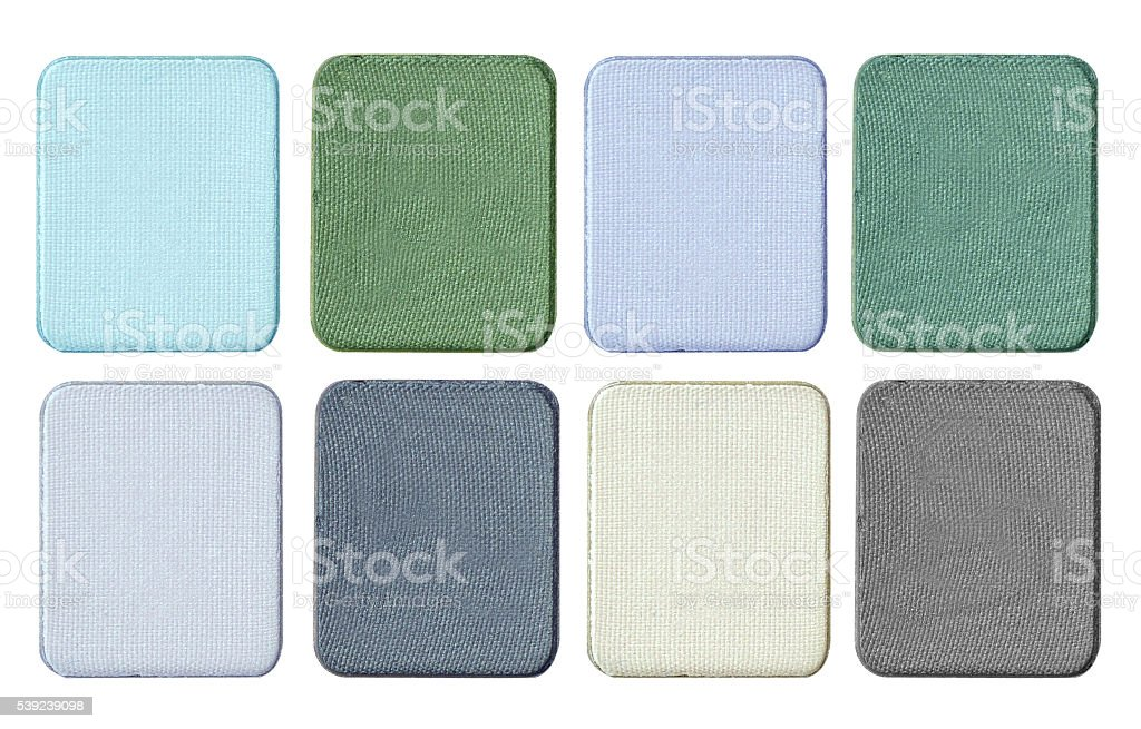 Make up color palette isolate on white. royalty-free stock photo
