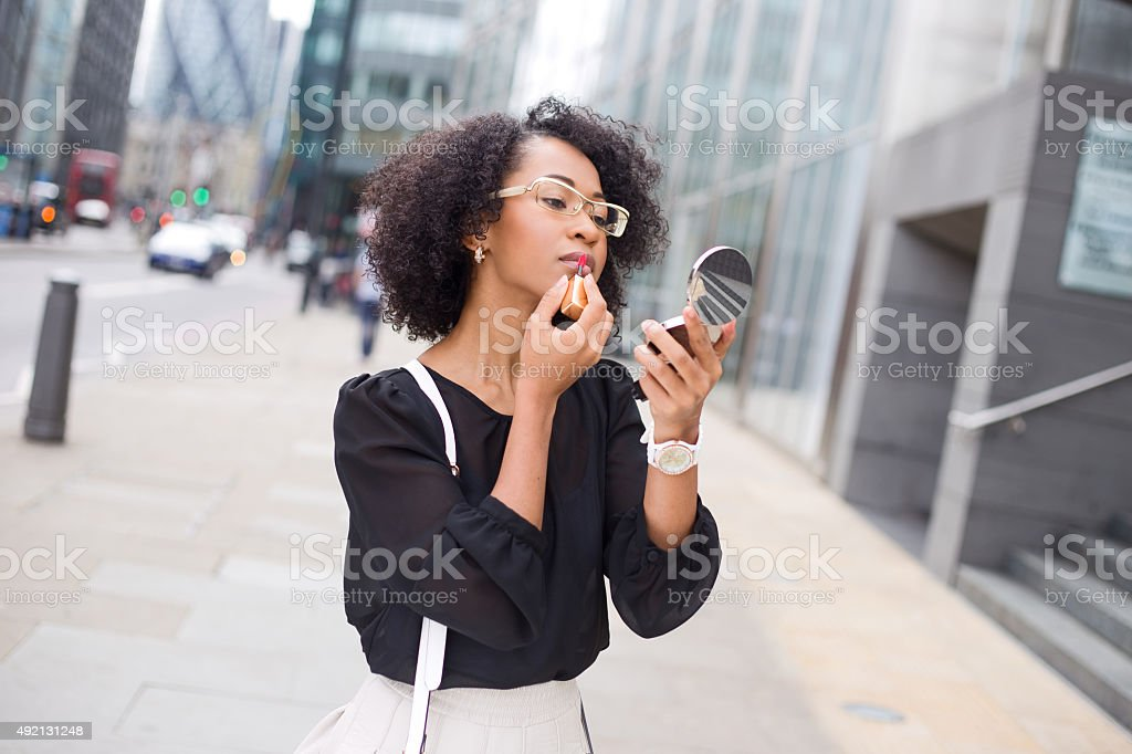 make up in the street stock photo