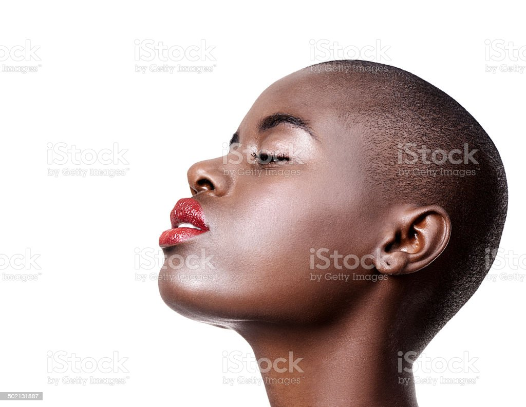 Make up is self-confidence applied directly to the face stock photo