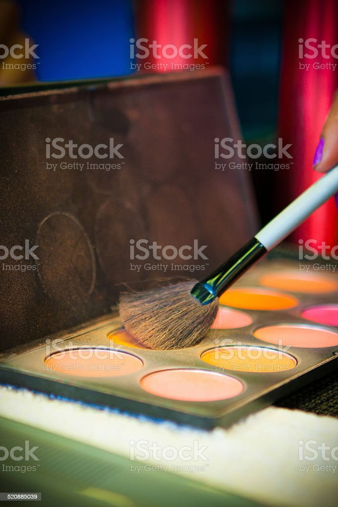 Make Up & Make Up Brush stock photo