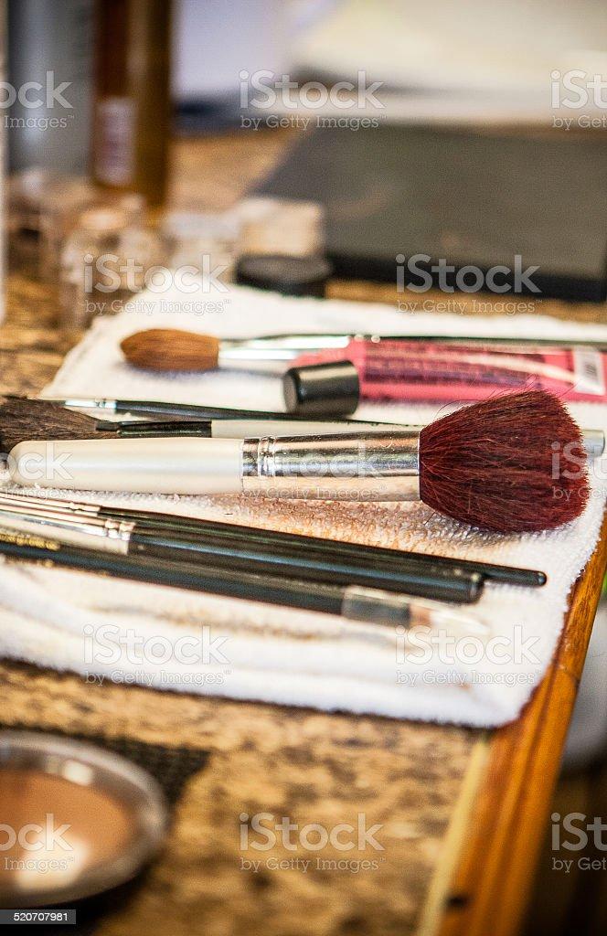 Make Up & Make Up Brushes stock photo