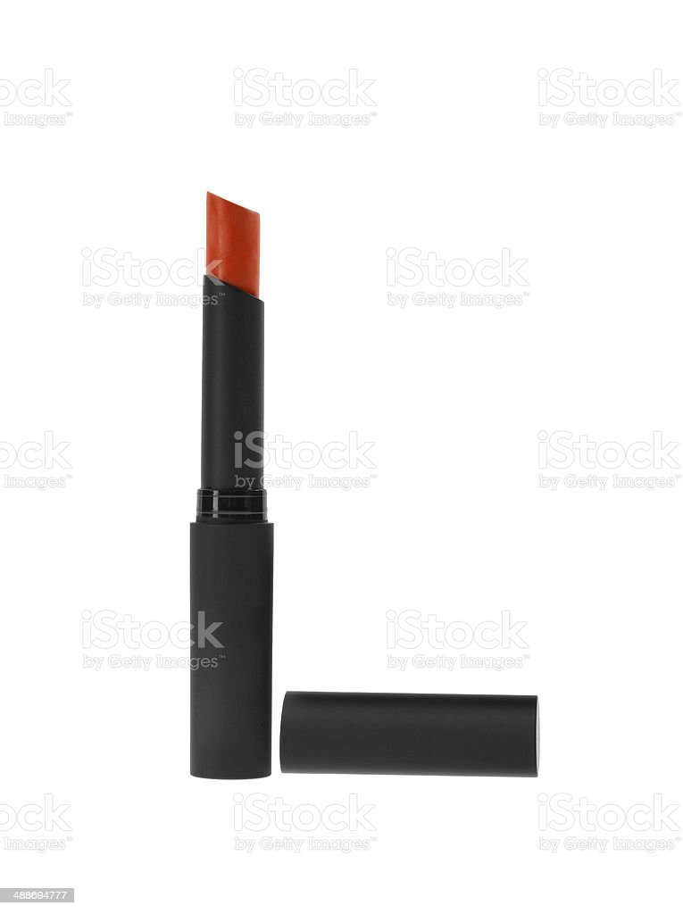 make up object: lipstick over white background royalty-free stock photo