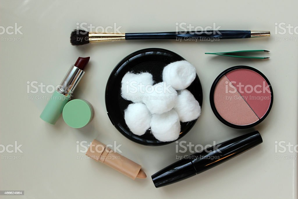 Make Up Products and Tools stock photo