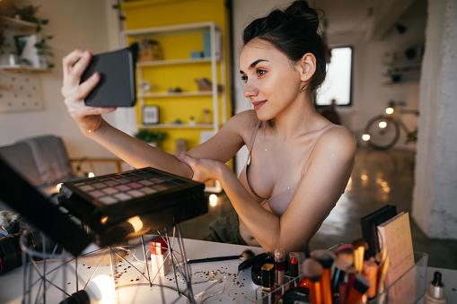 Make up selfie