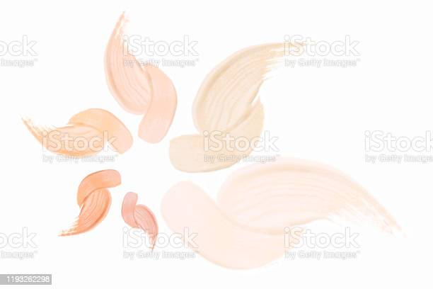 Photo of Make up strokes flower shape.