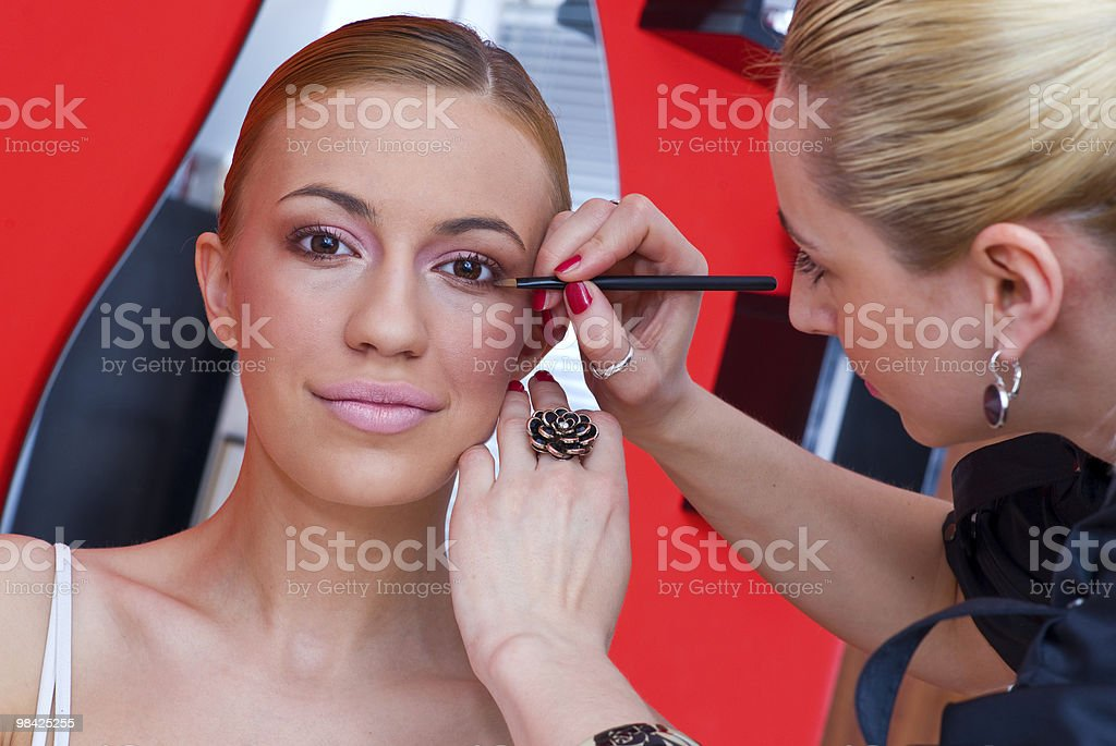 make up stylist at work royalty-free stock photo