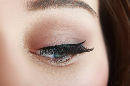 make up with black arrow stock photo