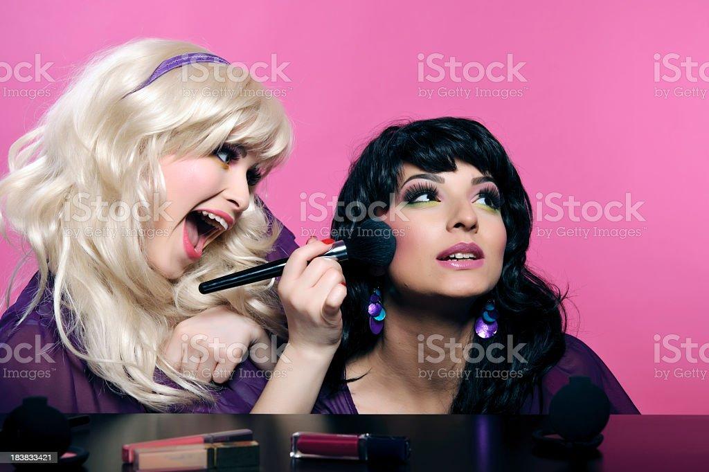 make up woman royalty-free stock photo