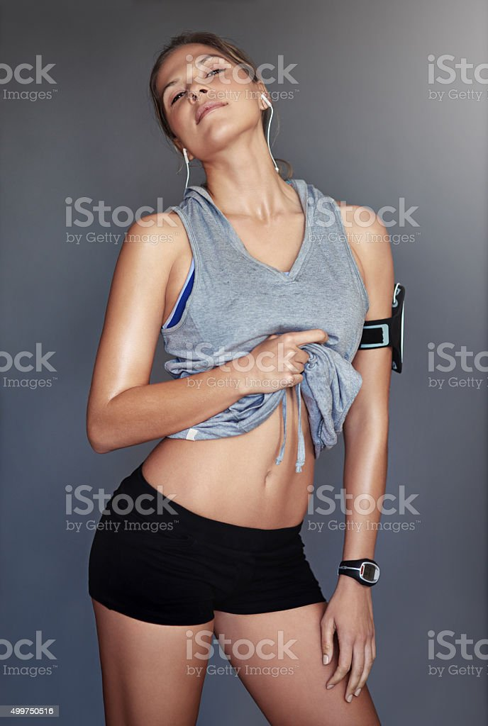 Make your body the sexiest outfit you own stock photo