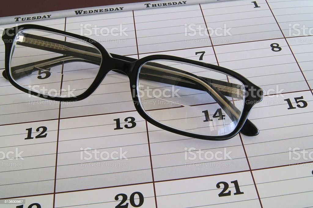 Make your eye appointment stock photo