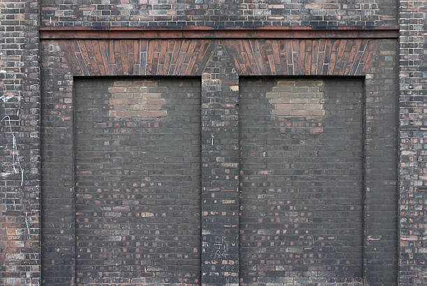 blank brick wall clean slate to write on - whiteway graffiti stock photos and pictures
