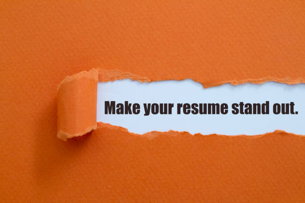 Make your resume stand out. stock photo