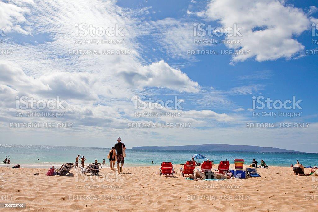Makena Beach State Park Maui Stock Photo Download Image