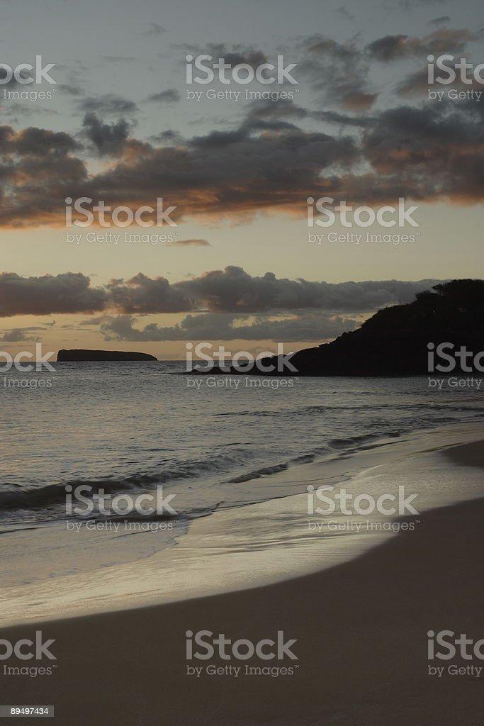 Makena tramonto foto stock royalty-free