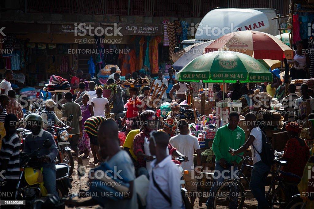 Makeni, Bombali District, Sierra Leone, Africa stock photo