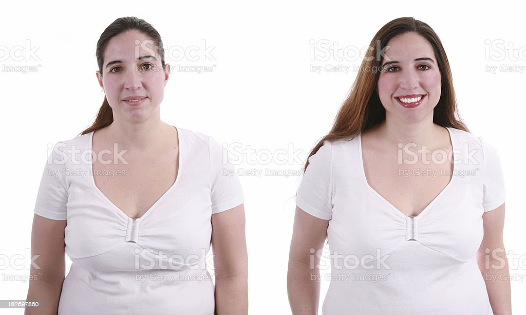Makeover Before & After royalty-free stock photo