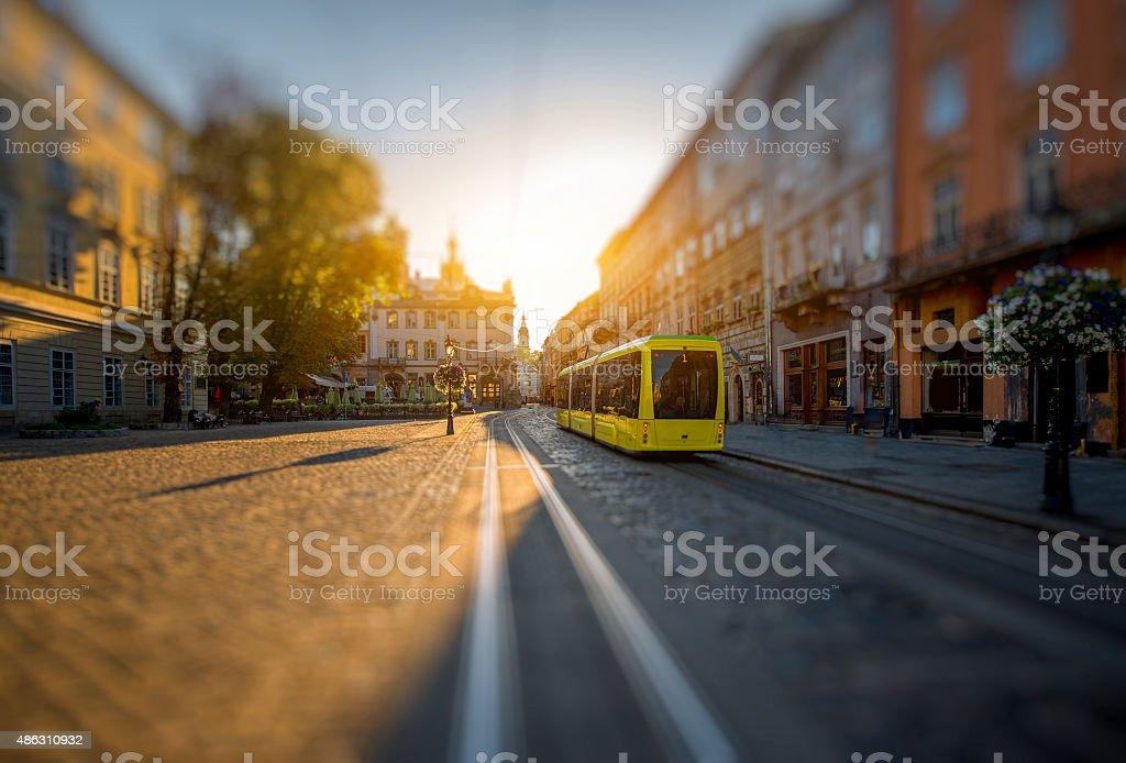 Maket square in Lviv stock photo
