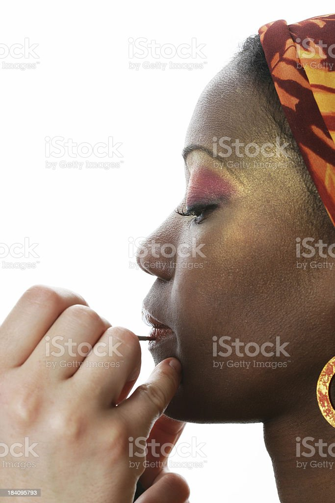 Makeup action royalty-free stock photo