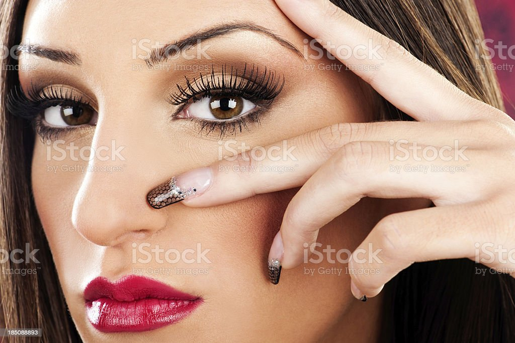 Makeup and beauty royalty-free stock photo