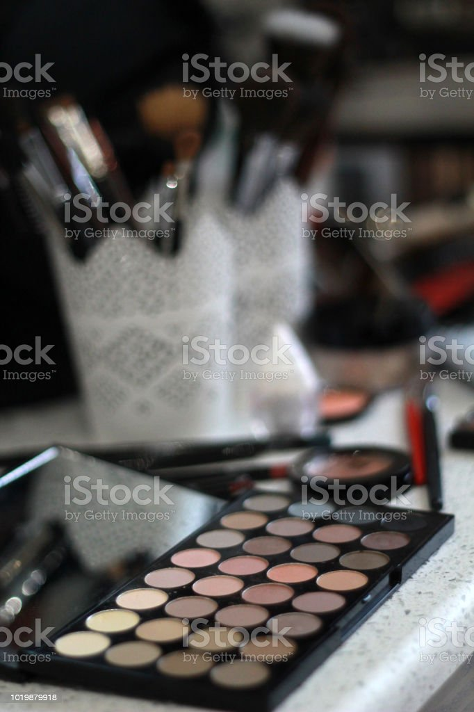 makeup and cosmetics for woman stock photo