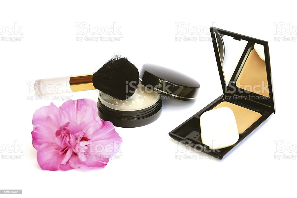 Makeup and flower royalty-free stock photo