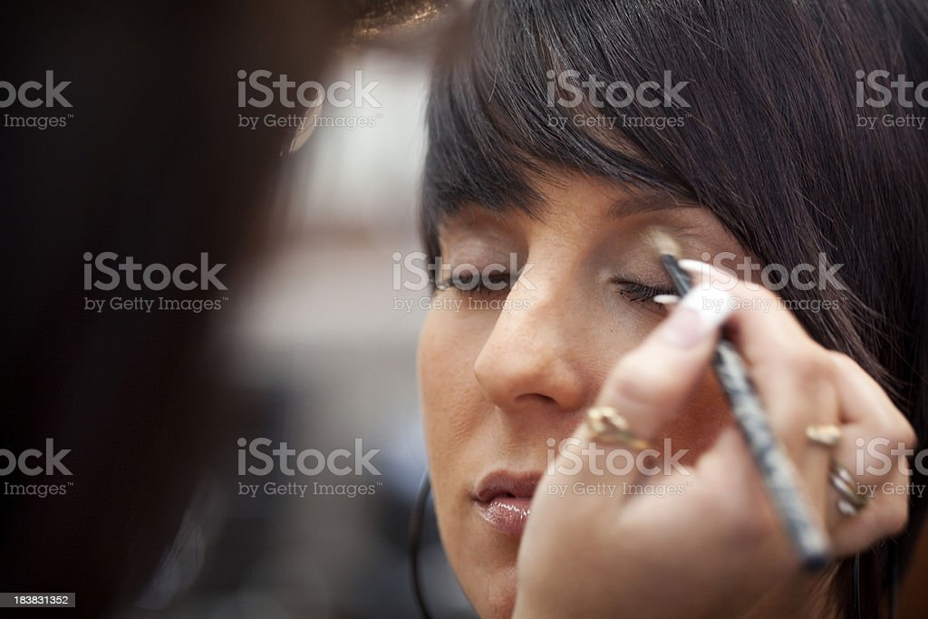 Make-up artist at work royalty-free stock photo