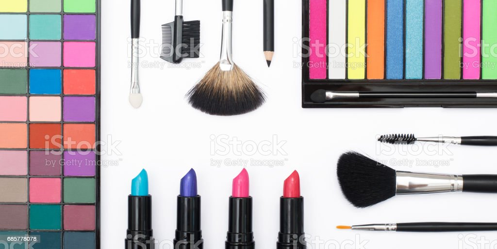 Makeup artist header background royalty-free stock photo