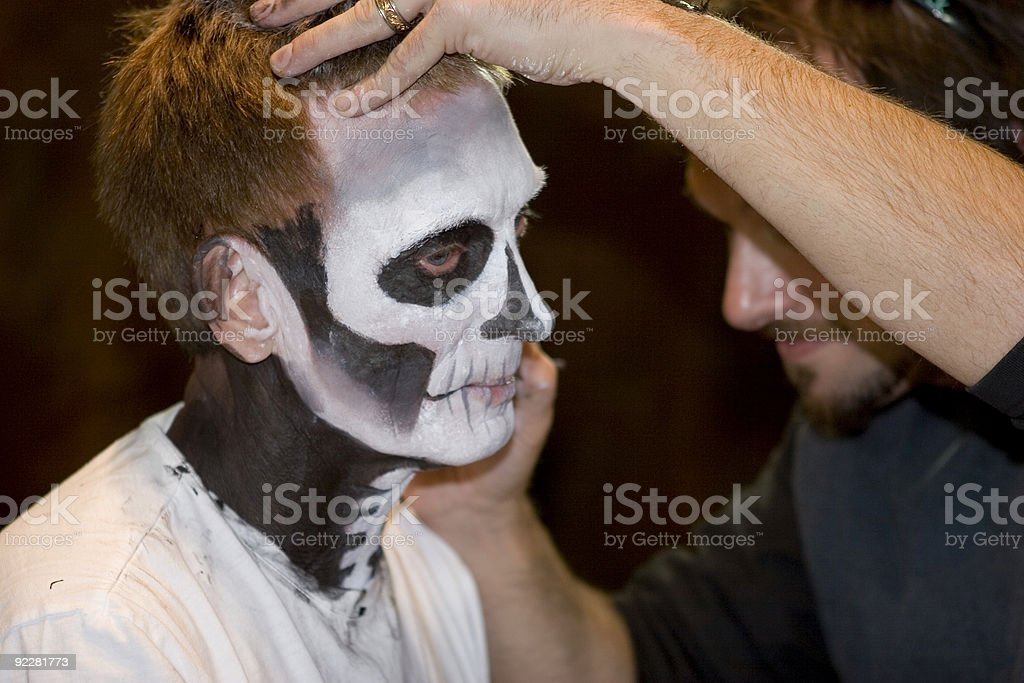 Make-Up Artist royalty-free stock photo