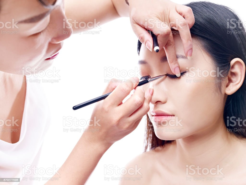 Makeup Artist Working On A Fashion Model Stock Photo Download Image Now Istock