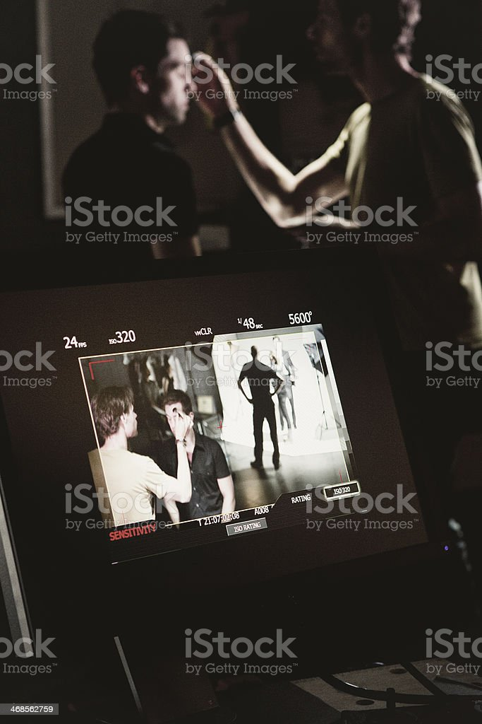Makeup Artist Working on Actor royalty-free stock photo