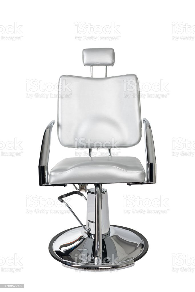 A makeup artists chair isolated on a white background royalty-free stock photo