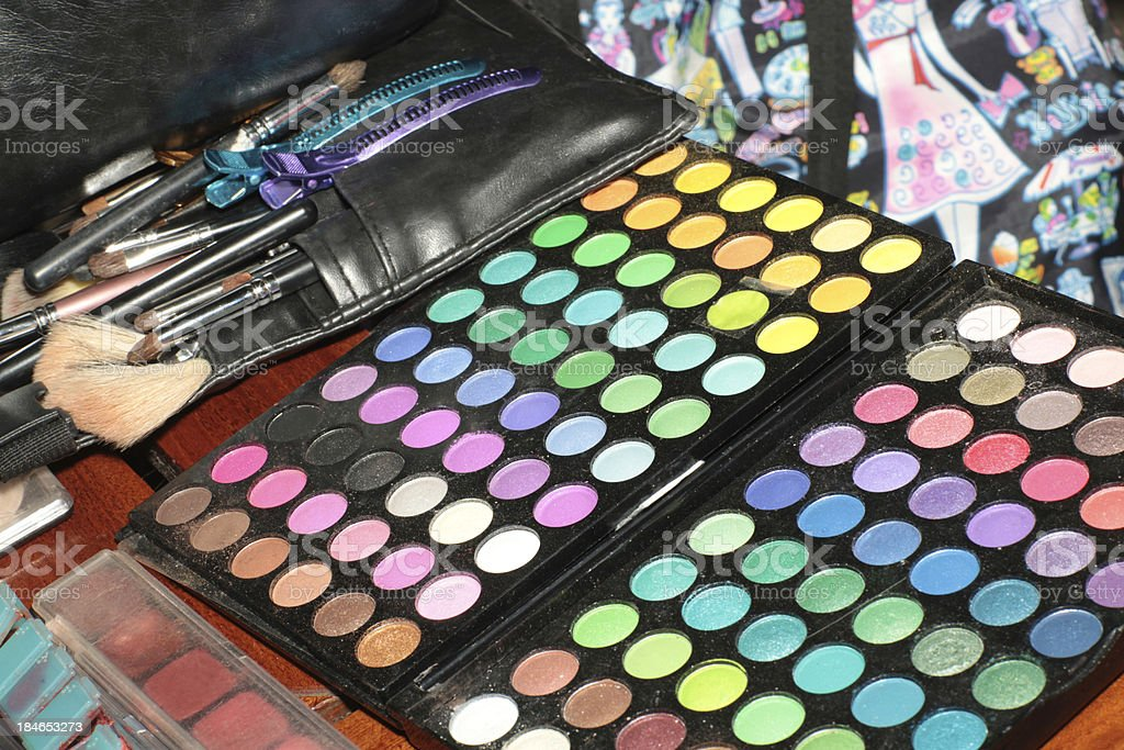 Makeup artists palette royalty-free stock photo