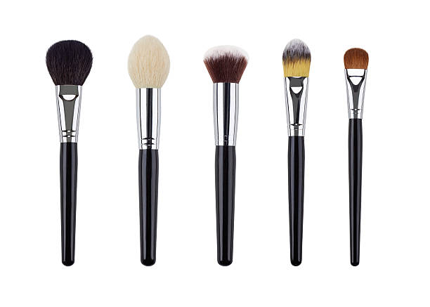 Makeup brush set. Isolated. White background Makeup brush set. Isolated. White background. make up brush stock pictures, royalty-free photos & images