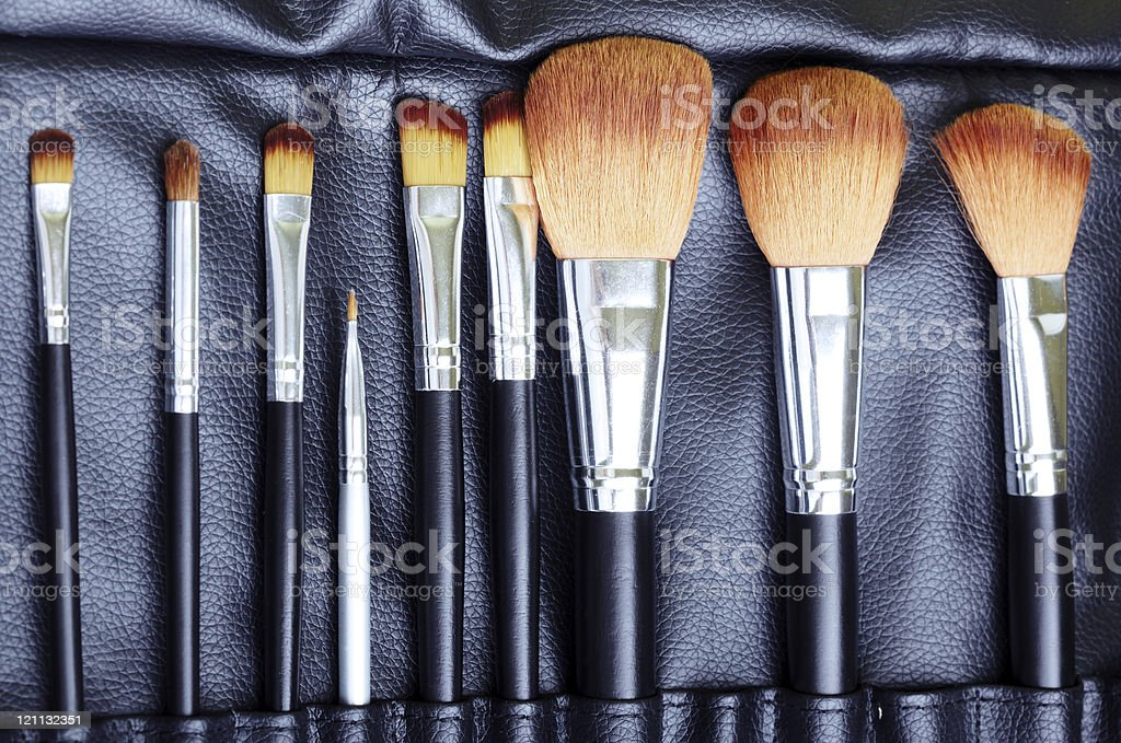 Makeup brush set royalty-free stock photo