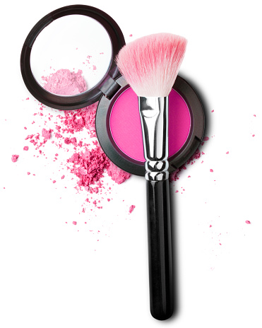 makeup brush with blush set